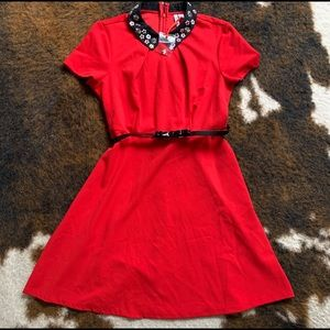 Elle, NWT, beautiful red skater dress